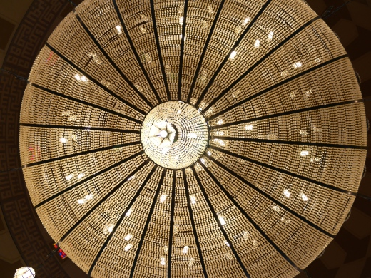 The chandelier at Bahrain's Grand Mosque
